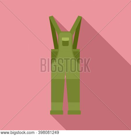 Fisherman Clothes Icon. Flat Illustration Of Fisherman Clothes Vector Icon For Web Design