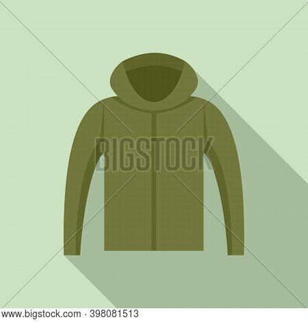 Fisherman Hoodie Icon. Flat Illustration Of Fisherman Hoodie Vector Icon For Web Design