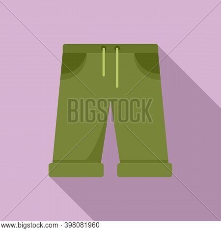 Fisherman Sport Shorts Icon. Flat Illustration Of Fisherman Sport Shorts Vector Icon For Web Design