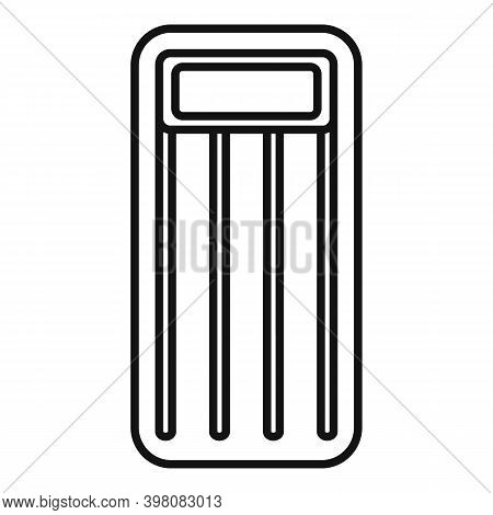 Bed Inflatable Mattress Icon. Outline Bed Inflatable Mattress Vector Icon For Web Design Isolated On