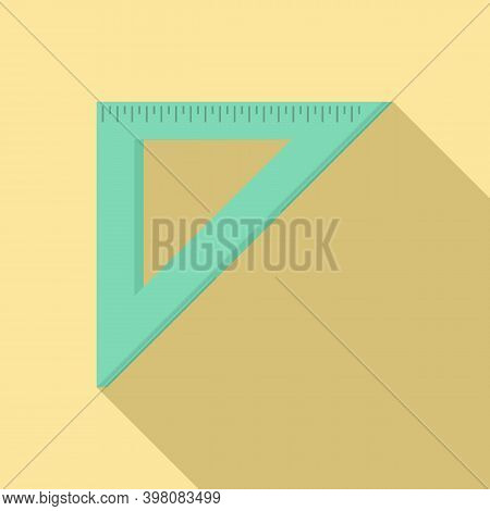Angle Metric Ruler Icon. Flat Illustration Of Angle Metric Ruler Vector Icon For Web Design