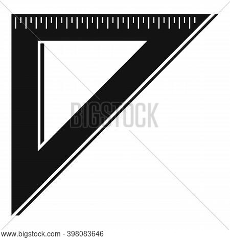 Angle Metric Ruler Icon. Simple Illustration Of Angle Metric Ruler Vector Icon For Web Design Isolat