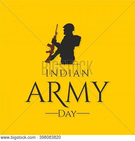 Indian Army Day Greetings - Illustration Silhouette
