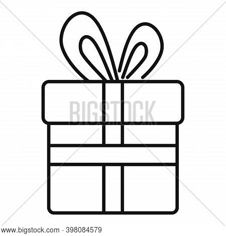 Bribery Gift Box Icon. Outline Bribery Gift Box Vector Icon For Web Design Isolated On White Backgro