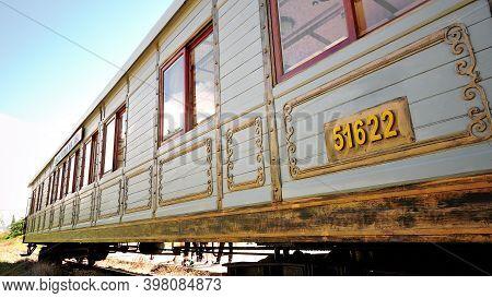 Side View Of Boky Train Memories At Dalat In Vietnam.