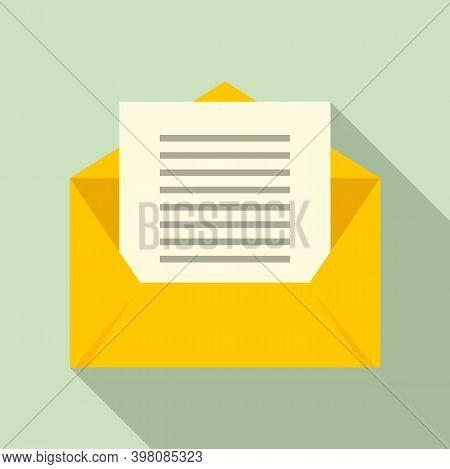 Linguist Envelope Icon. Flat Illustration Of Linguist Envelope Vector Icon For Web Design
