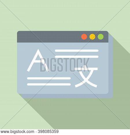 Linguist Web Page Icon. Flat Illustration Of Linguist Web Page Vector Icon For Web Design