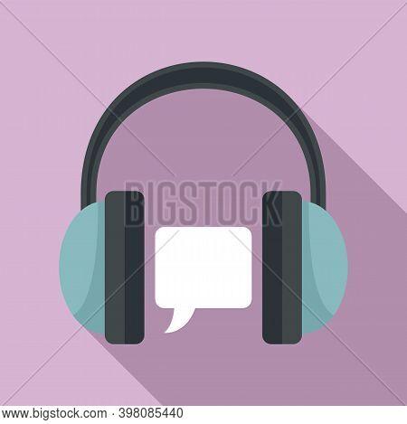 Audio Linguist Icon. Flat Illustration Of Audio Linguist Vector Icon For Web Design
