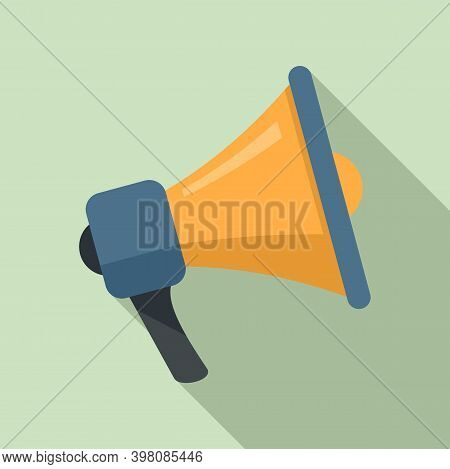Megaphone Linguist Icon. Flat Illustration Of Megaphone Linguist Vector Icon For Web Design
