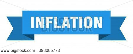 Inflation Ribbon. Inflation Paper Band Banner Sign