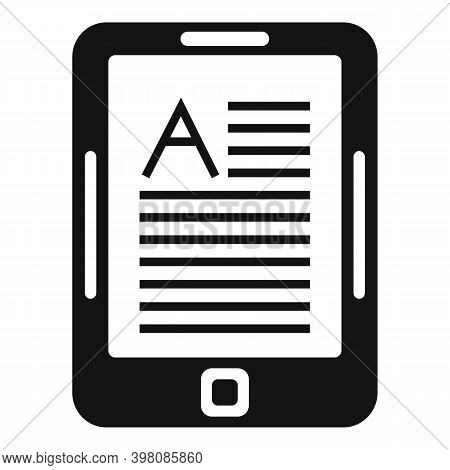 Linguist Tablet Icon. Simple Illustration Of Linguist Tablet Vector Icon For Web Design Isolated On