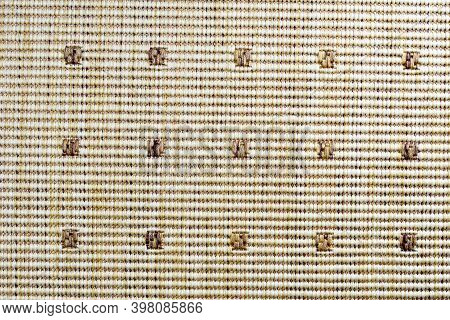 Floor Mat, Light Brown Pattern, Textured Three-dimensional Pattern Small Squares, Screen Saver, Back