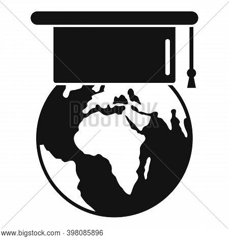Global Linguist Icon. Simple Illustration Of Global Linguist Vector Icon For Web Design Isolated On