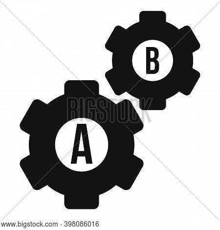 Gear Wheel Linguist Icon. Simple Illustration Of Gear Wheel Linguist Vector Icon For Web Design Isol