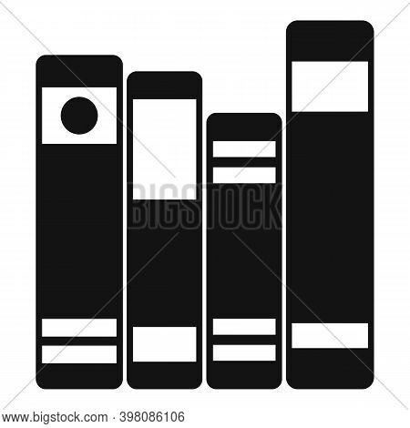 Linguist Book Shelf Icon. Simple Illustration Of Linguist Book Shelf Vector Icon For Web Design Isol