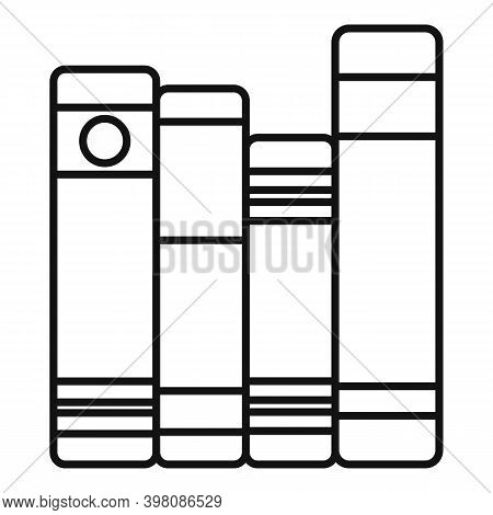 Linguist Book Shelf Icon. Outline Linguist Book Shelf Vector Icon For Web Design Isolated On White B