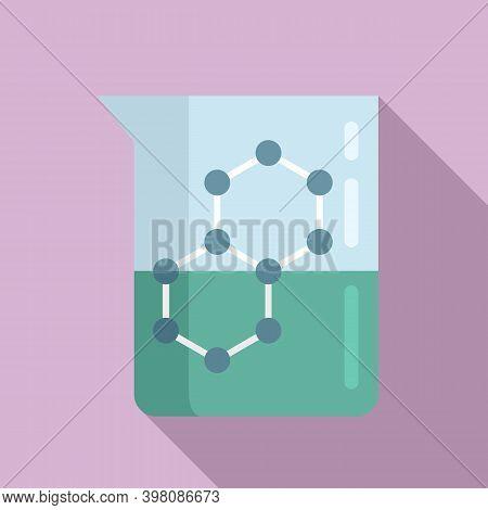 Chemistry Flask Formula Icon. Flat Illustration Of Chemistry Flask Formula Vector Icon For Web Desig