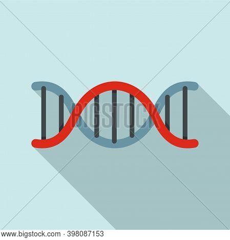 Biophysics Dna Icon. Flat Illustration Of Biophysics Dna Vector Icon For Web Design