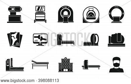 Medical Magnetic Resonance Imaging Icons Set. Simple Set Of Medical Magnetic Resonance Imaging Vecto