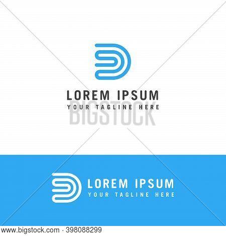 Initial Letter Logo Ds, Sd, S Inside D Logo Template, Letter S And D Minimalist Logo Design