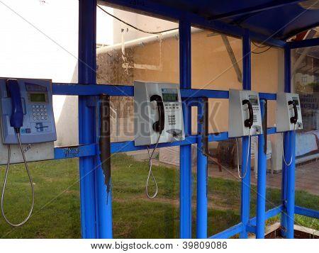 Public Phones Near The Hotel In Turkey