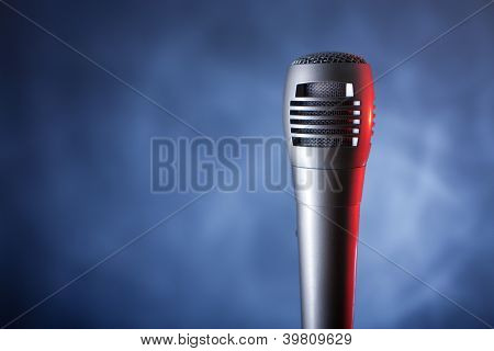 microphone with copyspace