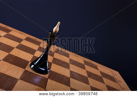 chess queen on the Board