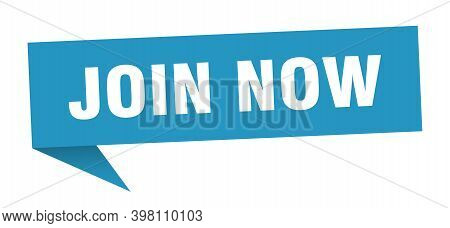 Join Now Speech Bubble. Join Now Sign. Join Now Banner