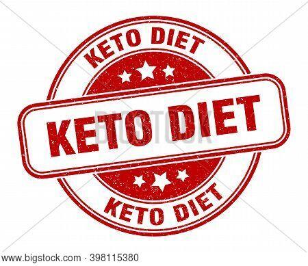 Keto Diet Stamp. Keto Diet Label. Round Grunge Sign
