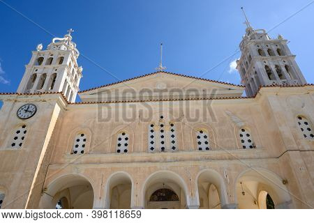 The Church Of Agia Triada, A Byzantine Temple In The Mountainous Village Of Lefkes On Paros Island,