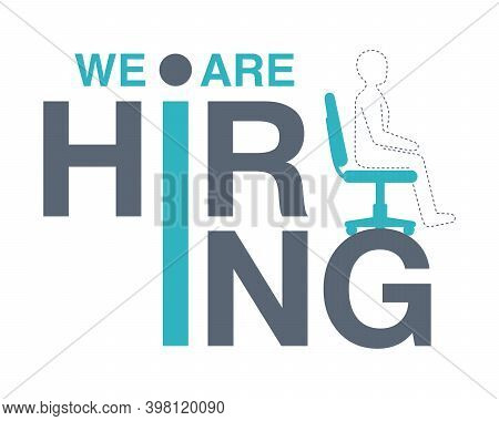 We Are Re Hiring Flyer For Staff Recruitment - New Employee Search Advertisement Element - Empty Off