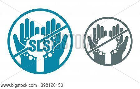 Sls Free Ingredient Pictogram - Unavailability Of Sodium Laureth Sulfate Foam Component In Cosmetics