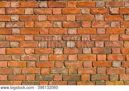 Brick Wall Texture, Flemish Bond Brickwork Pattern Of A Vintage  Wall, Uk