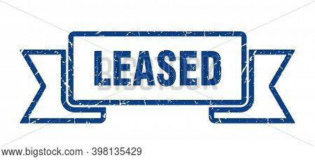 Leased Ribbon. Leased Grunge Band Sign. Leased Banner