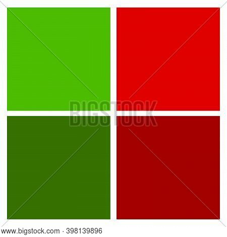 Christmas Color Swatch. Xmas Colors Tone Chart. Swatches Scheme For Holiday Design. Winter Palette W