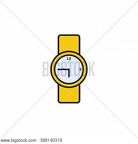 Wrist, O Clock Icon. Signs And Symbols Can Be Used For Web, Logo, Mobile App, Ui, Ux