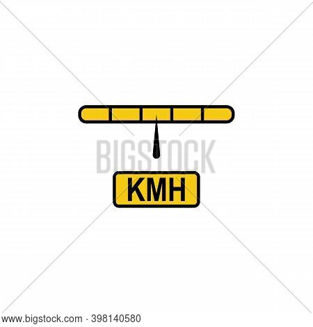 Speedometer, Kilometer, Hours Icon. Signs And Symbols Can Be Used For Web, Logo, Mobile App, Ui, Ux