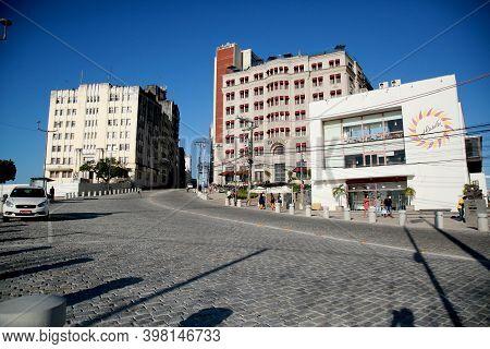 Salvador, Bahia, Brazil - December 2, 2020: Cine Glauber Rocha, Hotel Fasano In The Historic Center