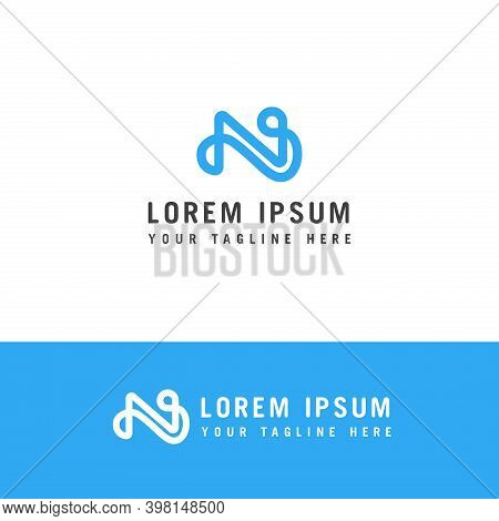 Initials Monogram N Letter Logo Design Vector . Creative Modern Initial N Logo.