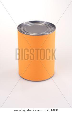 Isolated Orange Can