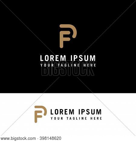 Creative Initial F And P Logo. F And P Logo With Minimalist Style.