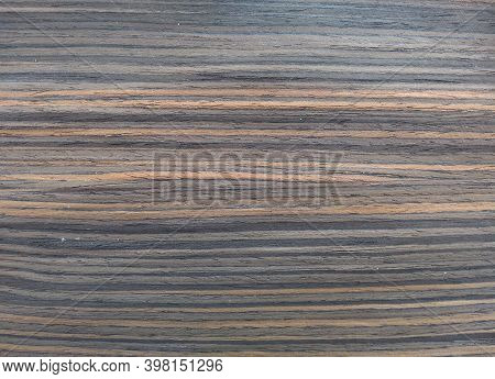 Natural Royal Ebony Wood Texture Background. Veneer Surface For Interior And Exterior Manufacturers