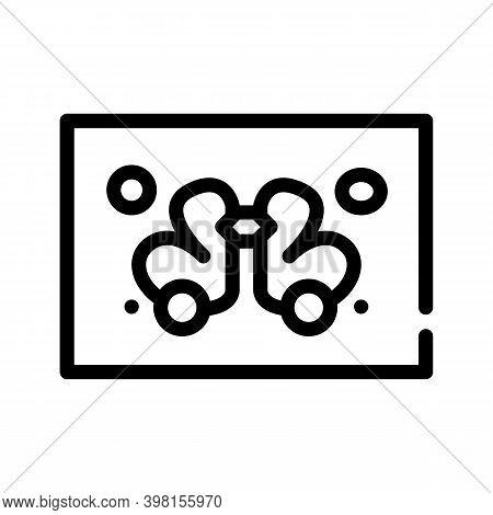 Rorschach Test Line Icon Vector Illustration Flat