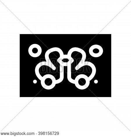 Rorschach Test Glyph Icon Vector Illustration Black