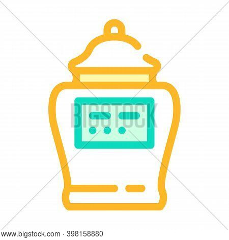 Urn With Ashes Of Deceased Color Icon Vector Illustration