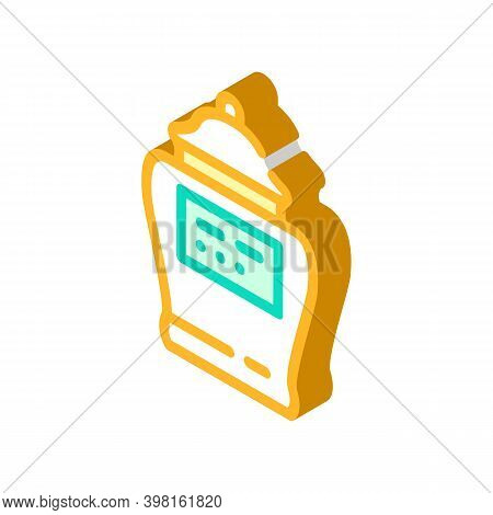 Urn With Ashes Of Deceased Isometric Icon Vector Illustration