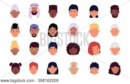 User Avatar. Cartoon Men And Women Modern Icons. Human Portraits For Social Media Network. Trendy Mi