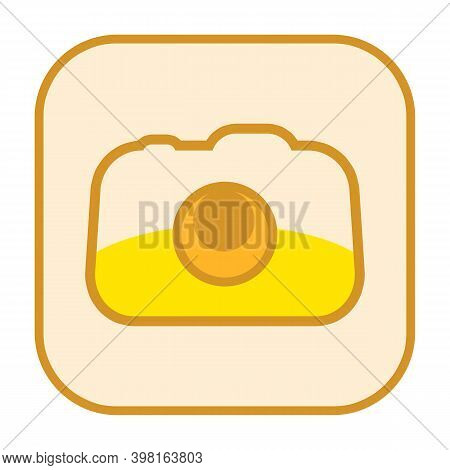 Funny Camera Icon Isolated On White Background