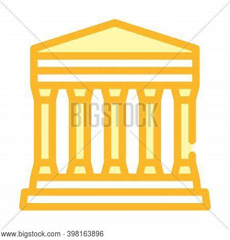 Concordia Temple, Agrigento Sicily Color Icon Vector Illustration