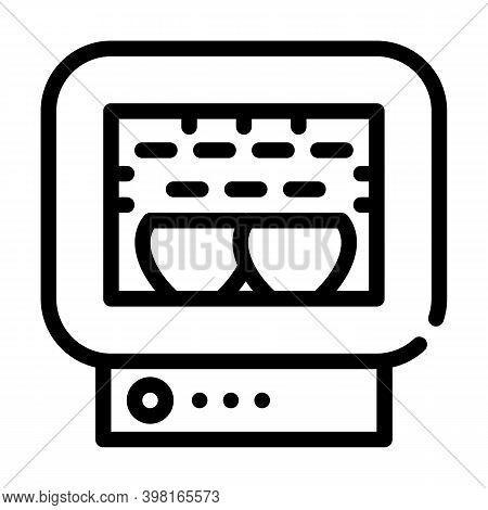 Roasting Chamber Line Icon Vector Illustration Black